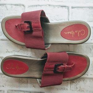 COLE HAAN platform pink flip flops size 10